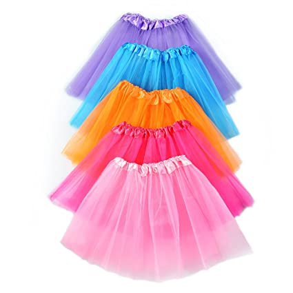 f32de17217 Buy Blulu Baby Girl Tutu Skirt Ballet Dress Princess Skirt, 5 Colors Online  at Low Prices in India - Amazon.in