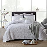 Oversized Quilts for King Bed Quilt Set King, Cotton World Li Premium 3 Piece Oversized Coverlet Set as Bedspread Bed Cover Reversible Elegant Luxury Comfortable LightWeight - Wrinkle & Fade Resistant-King/California King