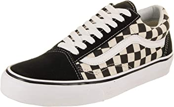 447af461fcd8 Vans Unisex Old Skool (Primary Check) Black White VN0A38G1P0S Skate Shoes