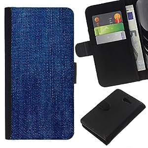 [Neutron-Star] Modelo colorido cuero de la carpeta del tirón del caso cubierta piel Holster Funda protecció Para Sony Xperia M2 [ Texture Tissu]
