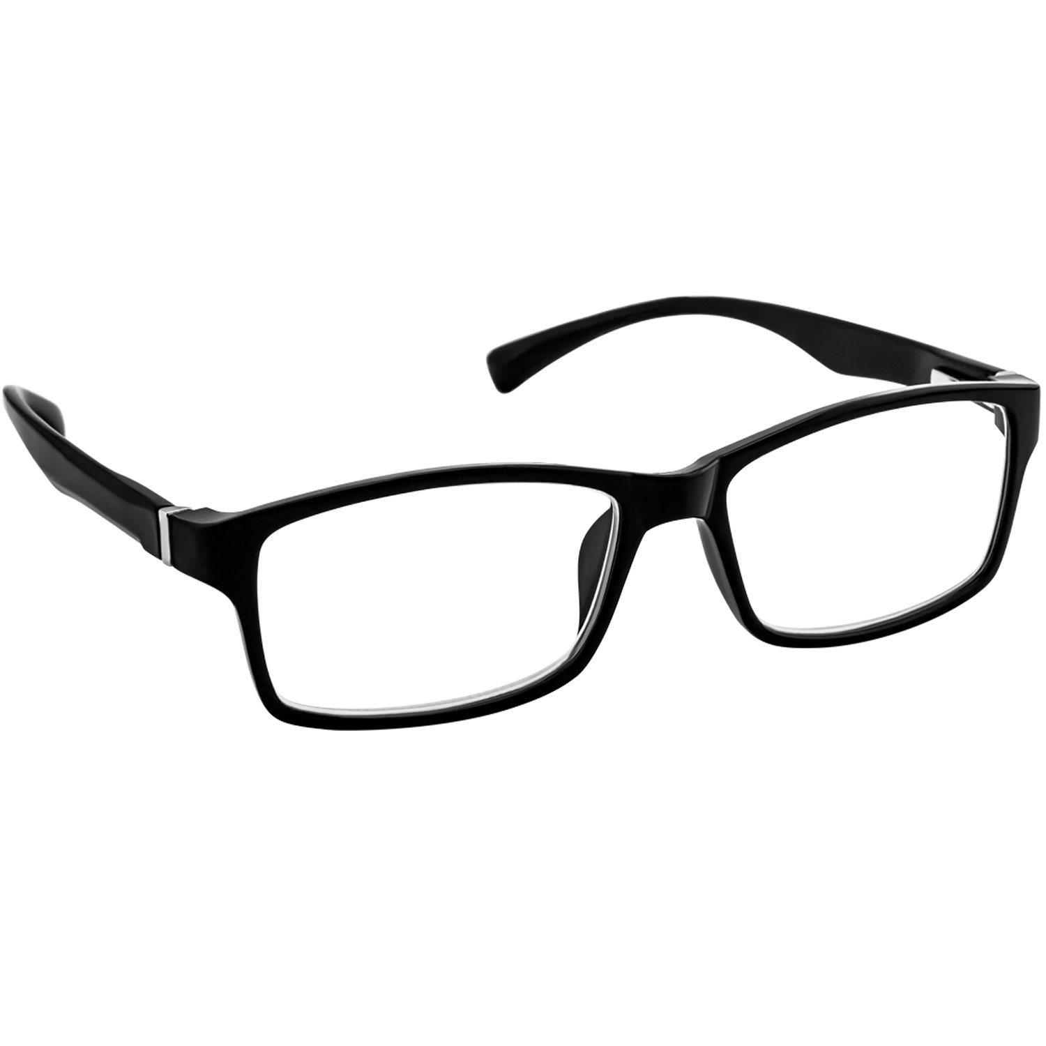 a880cac9f58 Amazon.com  Black Computer Reading Glasses 2.50 Protect Your Eyes Against  Eye Strain