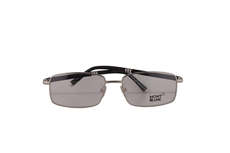 9c45492febe Mont Blanc MB 396 Eyeglasses 55-17-140 Silver 016 MB396 MB0396   Amazon.co.uk  Clothing
