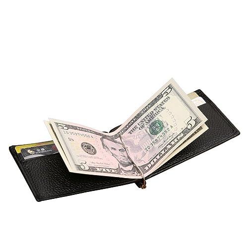 JINBAOLAI-MSKAY Cartera delgada de cuero real bifold con el clip metálico del dinero Monedero mini bolsillo, coffee: Amazon.es: Zapatos y complementos