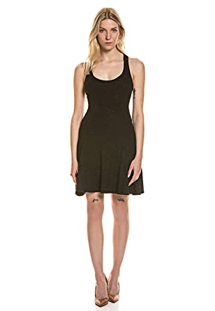 Superdry Damen Damen Träger Kleid Stretch Komfort Tailliert