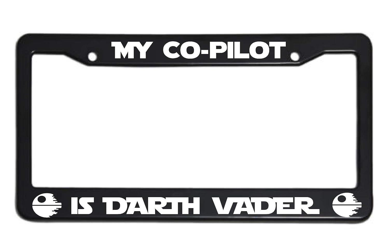 License Plate frame - My Co-Pilot Is Darth Vader - License Plate Frame