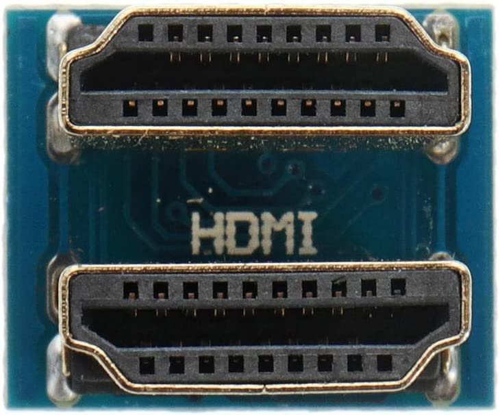 3Pcs HDMI 1.4 Two-Way Connecting Rotation Head Adapter Module Power Module
