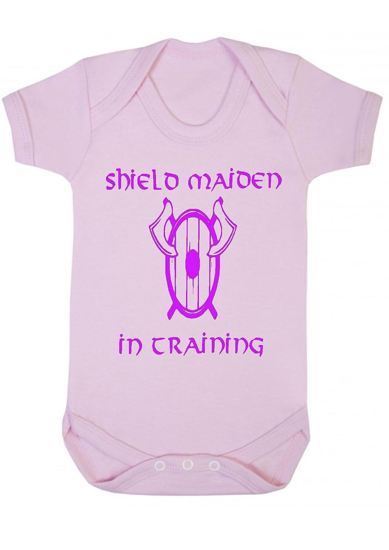 Danni Rose Shield Maiden In Training Viking Baby Bodysuit, Vest