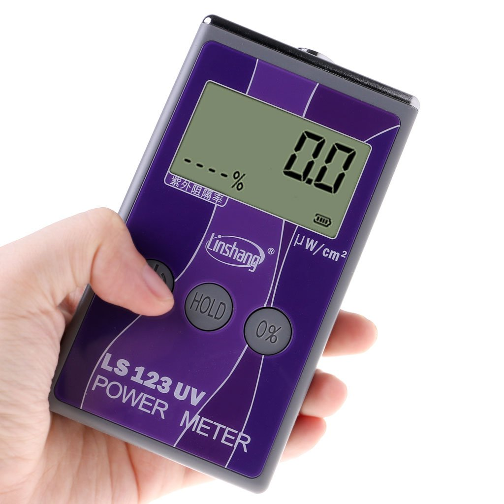 LS123 UV Power Meter Ultraviolet Rejection Rate Tester Intensity Transmittance