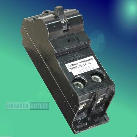 refurbished cooper crouse hinds murray md2200 main breaker  200 amp 240 volt circuit breaker