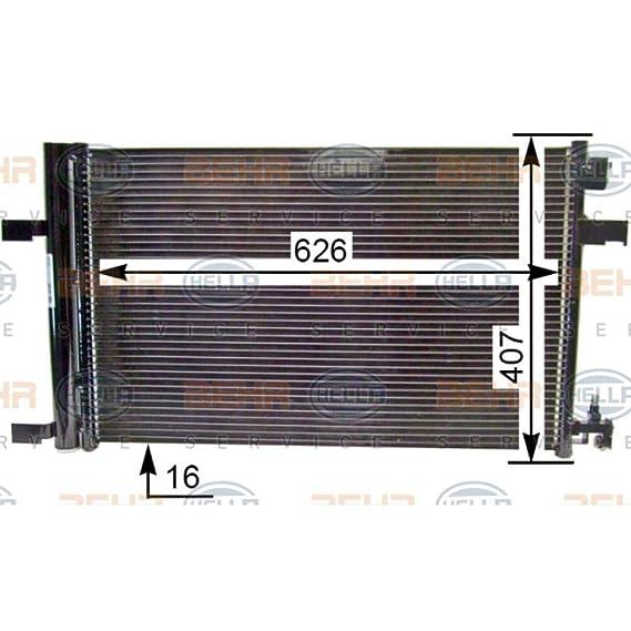 VAN WEZEL 37005499 Condensatore Climatizzatore