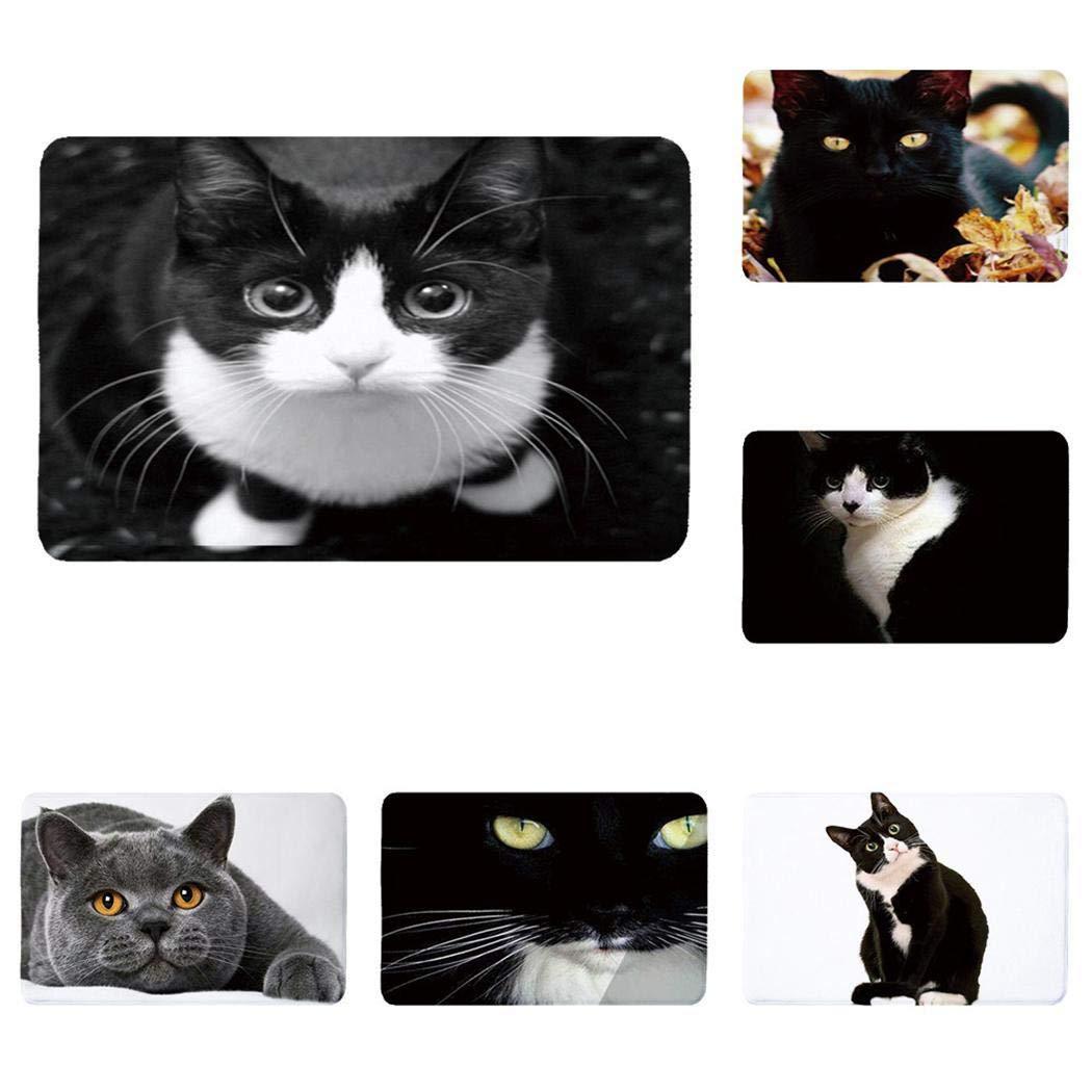 fnemo 1PCS Fashion Water-absorb Floor Bath Mat Charming Cats Memory Foam Anti-slip Floormat Area Rugs