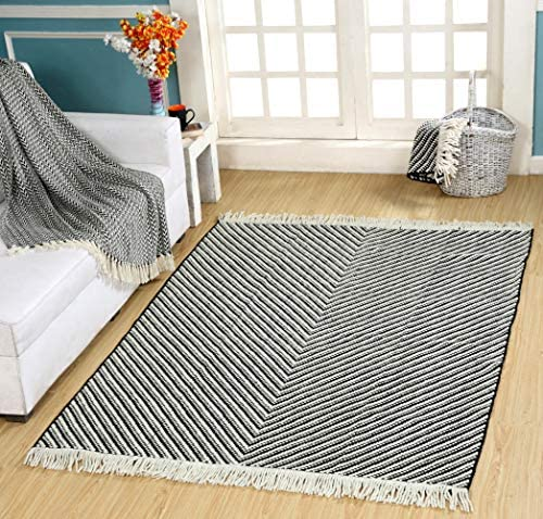 Kranvy Chevron Hand Woven Wool Area Rug 3'x5'