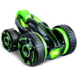 Remote control Stunt Car Double-face work 30km/h rapid stunt roller car all terrian suitable for competition with light,Green