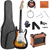 ADM Electric Guitar Beginner Kit 39 Inch Full Size Sunburst