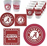 Westrick Alabama Crimson Tide Party Supplies - 88 pieces