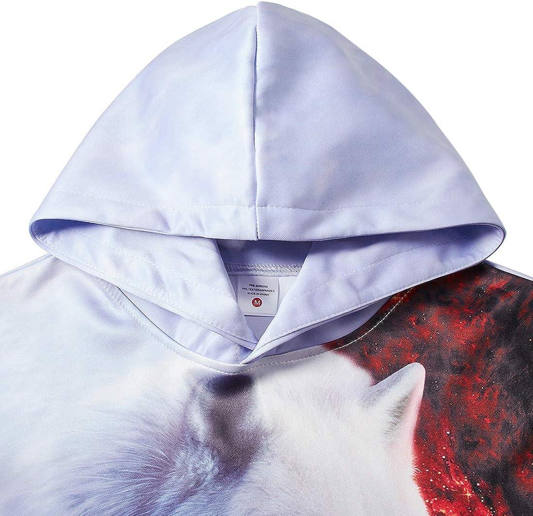 ALISISTER Unisex 3D Hoodie Kinder M/ädchen Jungen Lustig Gedruckt Kapuzenpullover Langarm Sweatshirt Alter 4-16