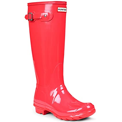 5ab7d9c37b2d Image Unavailable. Image not available for. Color  Hunter Womens Original  Tall Gloss Rain Boots ...