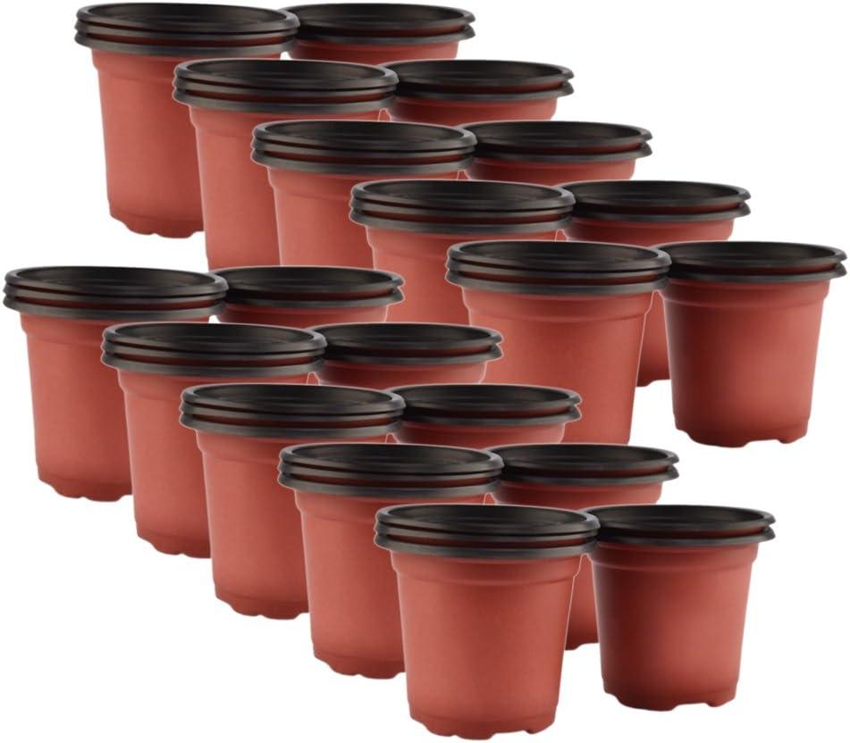 "{9/"" x 8.5/""} Flower Haviland 1.5 GALLON Nursery Pots set of 25"