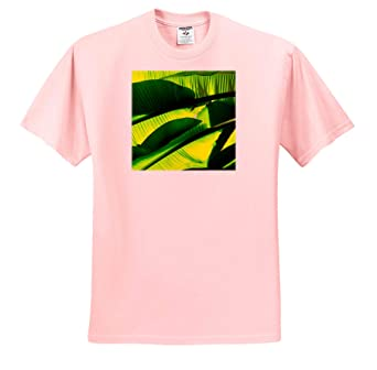 Green Backlit Palm Leaves T-Shirts Play of Light Yellow Colors 3dRose Alexis Photography Nature Palm Leaves