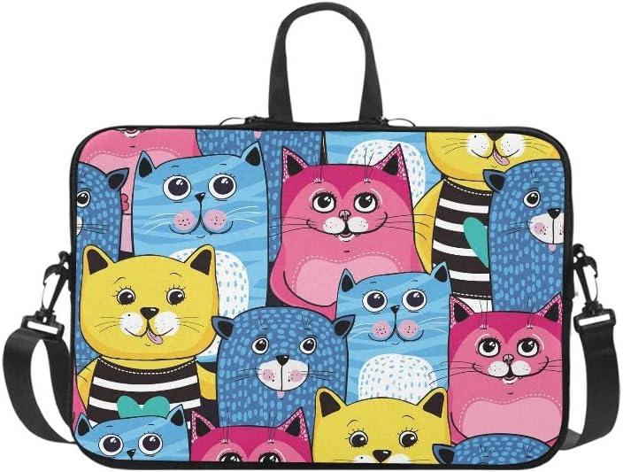 Cat Kittens Print Cross Body Shoulder Messenger Laptop Bag
