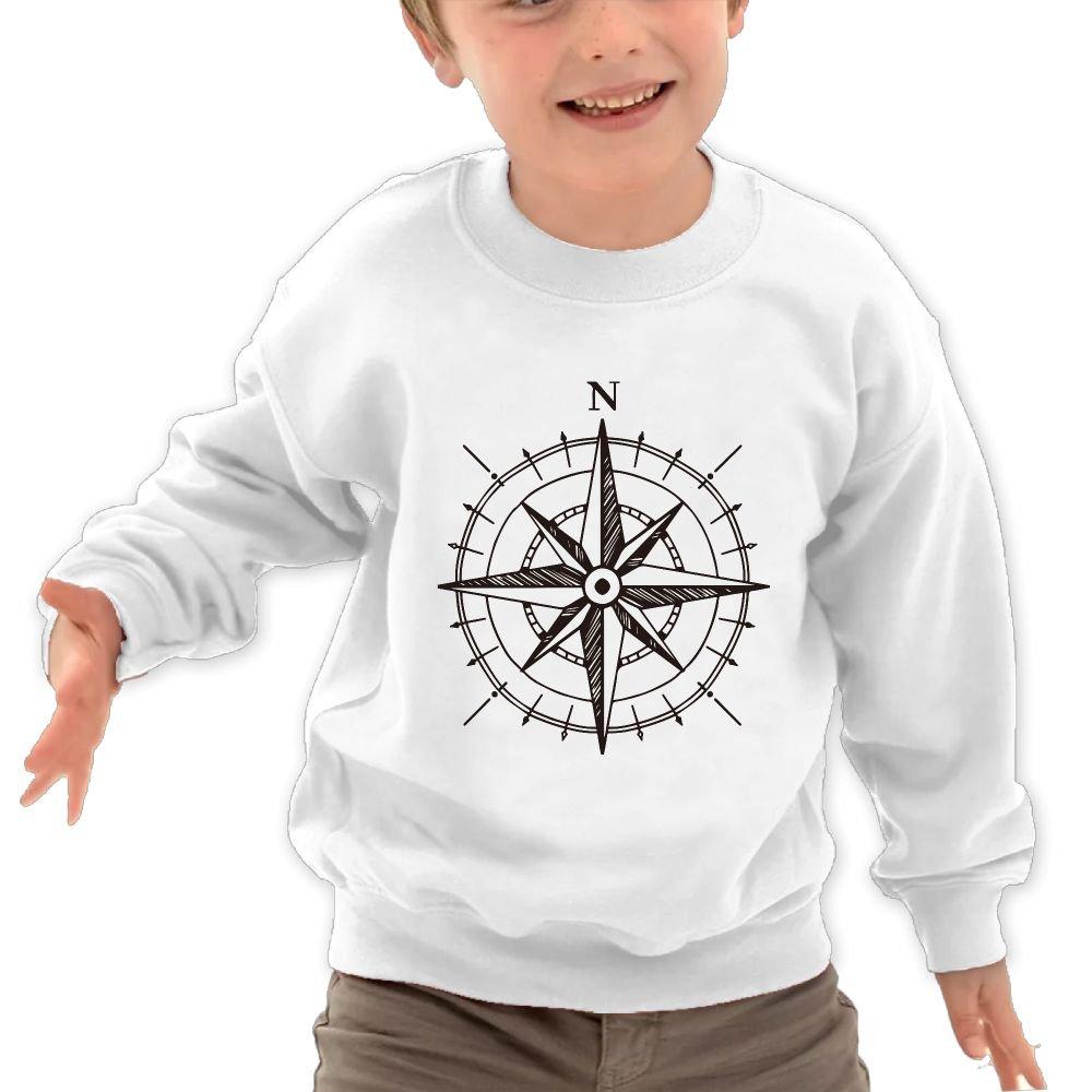 JasonMade Kids Compass To The North Cool Crewneck Long Sleeve T-Shirt