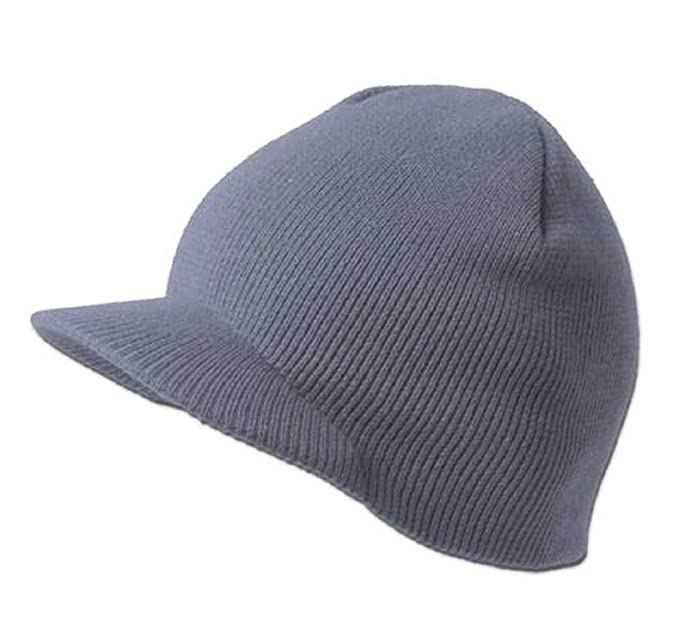 426ff934a00 Best Beanie Cuffless Grey Beanies Plain GI Jeep Cap Caps Hat Visor ...