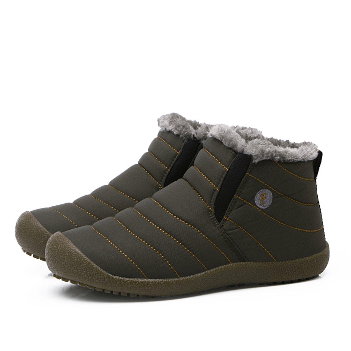 SITAILE Hombre Mujer Fur Oto/ño Invierno Plano Botines Calentar Botas De Nieve Zapatos Deportes al Aire Libre Boots