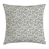 shower&home Floral Throw Pillow Cushion Cover, Traditional Ethnic...
