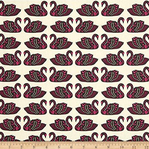 Art Gallery Fabrics 0568908 Art Gallery Tallinn Fairytale Baltic Swans Sand Fabric by The Yard