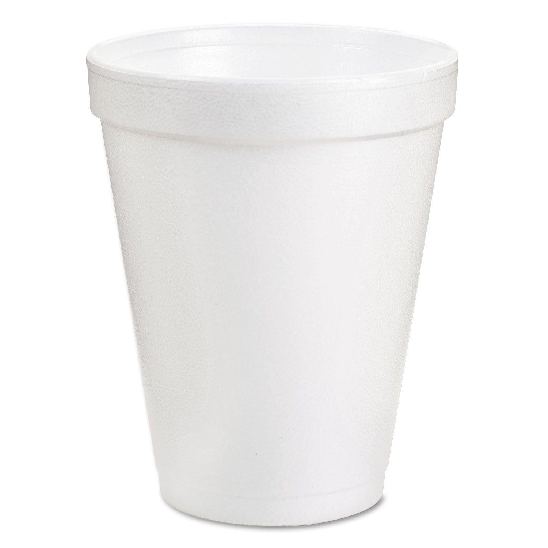 Dart 8J8 Foam Cup Hot or Cold, 1000 per Case, 8 oz.