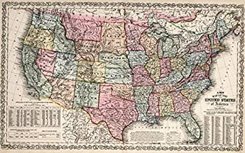 Amazon Com Imagekind Wall Art Print Entitled Vintage United States