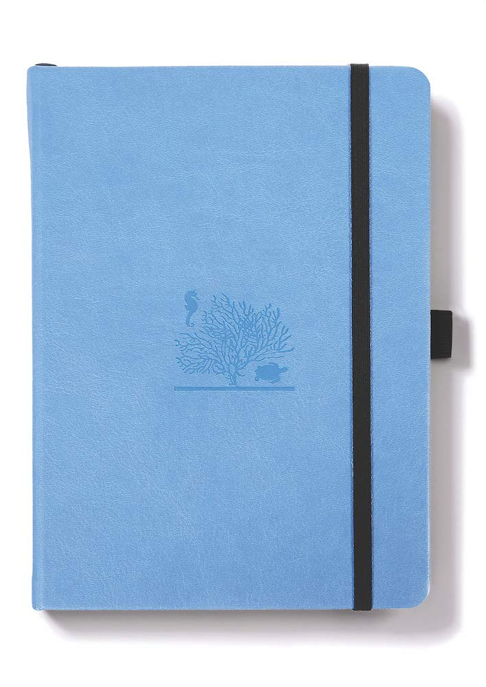 Dingbats Earth Notebook Medium A5 Sky Blue