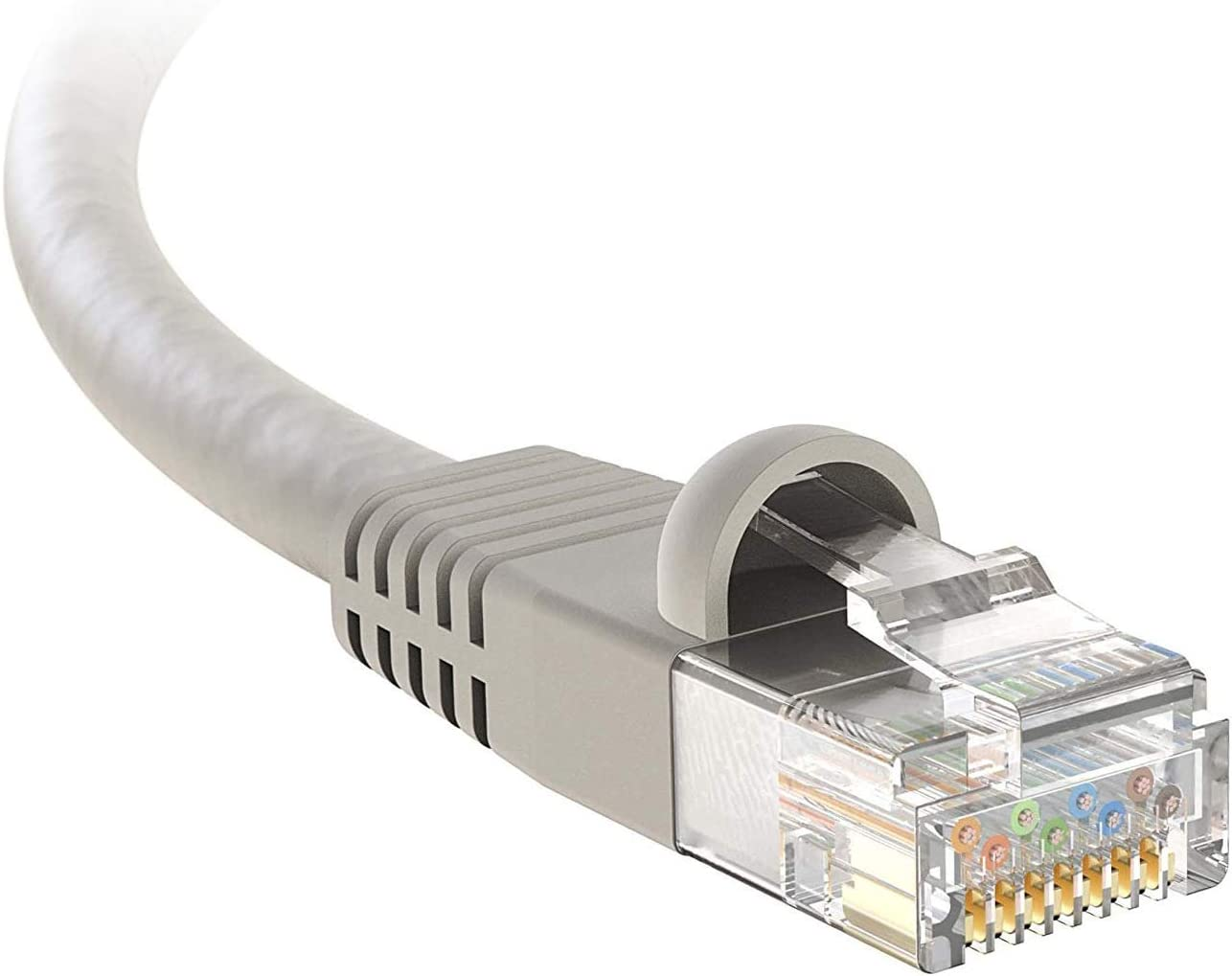 4 Pack Professional Series 350MHZ BoltLion BL-694633 Snagless Cat5e RJ45 Ethernet Cable 12 Feet 1Gbps Network//Internet Cable Gray