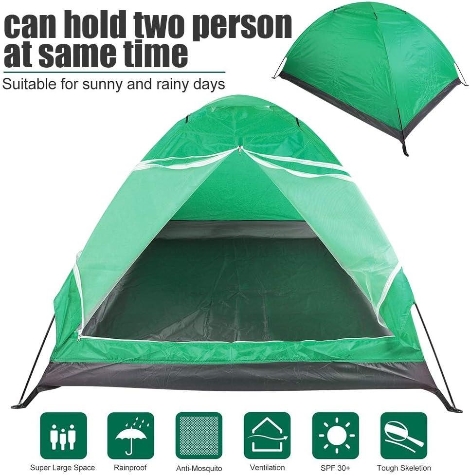 Winddicht und Wasserdicht Tihebeyan 2 Personen Zelt f/ür Backpacking Camping Wandern Familienfreunde Liebhaber Reisen Anti Moskito
