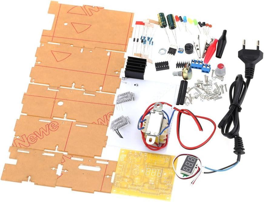 KKmoon LM317 1.25V-12V Kit de bricolaje de fuente de alimentaci/ón de voltaje regulado infinitamente ajustable UE