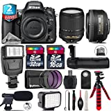 Holiday Saving Bundle for D610 DSLR Camera + 18-140mm VR Lens + 35mm 1.8G DX Lens + Battery Grip + Shotgun Microphone + LED Kit + 2yr Extended Warranty + 32GB Class 10 Memory - International Version
