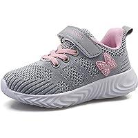 YUHUAWYH Niños Niñas Zapatillas de Deporte Moda para Niñas Zapatillas de Correr Transpirables Unisex para Niños Ligeras…