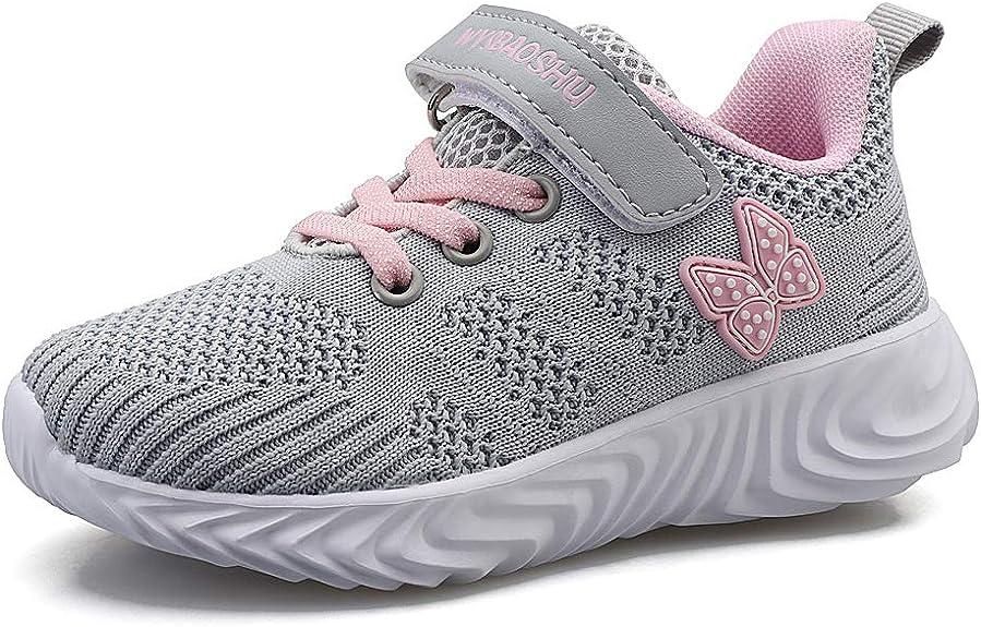 YUHUAWYH Niños Niñas Zapatillas de Deporte Moda para Niñas ...