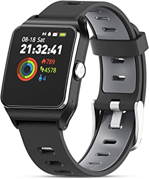 artisanat de qualité San Francisco attrayant et durable HolyHigh GPS Montre Connectée Montre Sport Podomètre Bluetooth Smartwatch  IP68 Etache détection de la fréquence Cardiaque Montre Intelligente pour  iOS ...