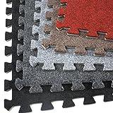 Incstores Eco-Soft Carpet Foam Tiles (12 Tiles, Light Grey) Portable Trade Show Flooring, Exercise Mats & Light Duty Carpet Top Gym Flooring