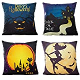 HOSL 6 Pack PW04 Happy Halloween Decorative Pillow Cover Case 18'...