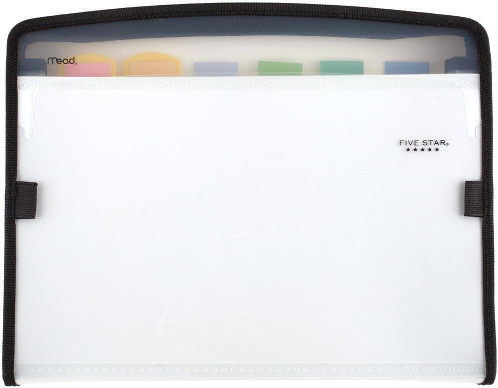 Five Star Expanding File, 7-Pocket Expandable Filing Folder,Zipper Closure, Customizable, Tabbed, Tabs, White (72508)