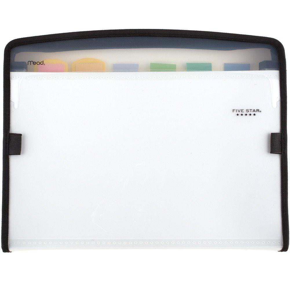 Five Star Expanding File, 7-Pocket Expandable Folder, Zipper Closure, Customizable, White (72508)