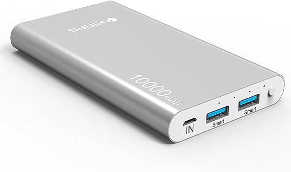 Kinps Powerbank/ /Bater/ía Externa de Alta Capacidad para la Carga r/ápido dei Tuoi Dispositivos Apple y Android Mediante la Doble Salida USB con Tecnolog/ía Smart