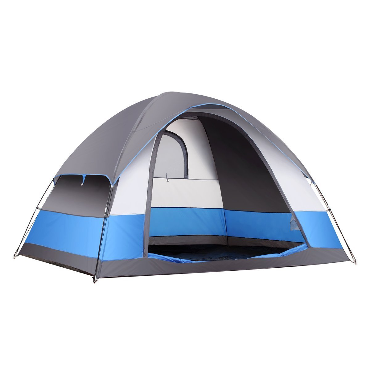 SEMOO Water Resistant 5 Person 3-Season Lightweight Family Dome Tent for Camping with Carry Bag