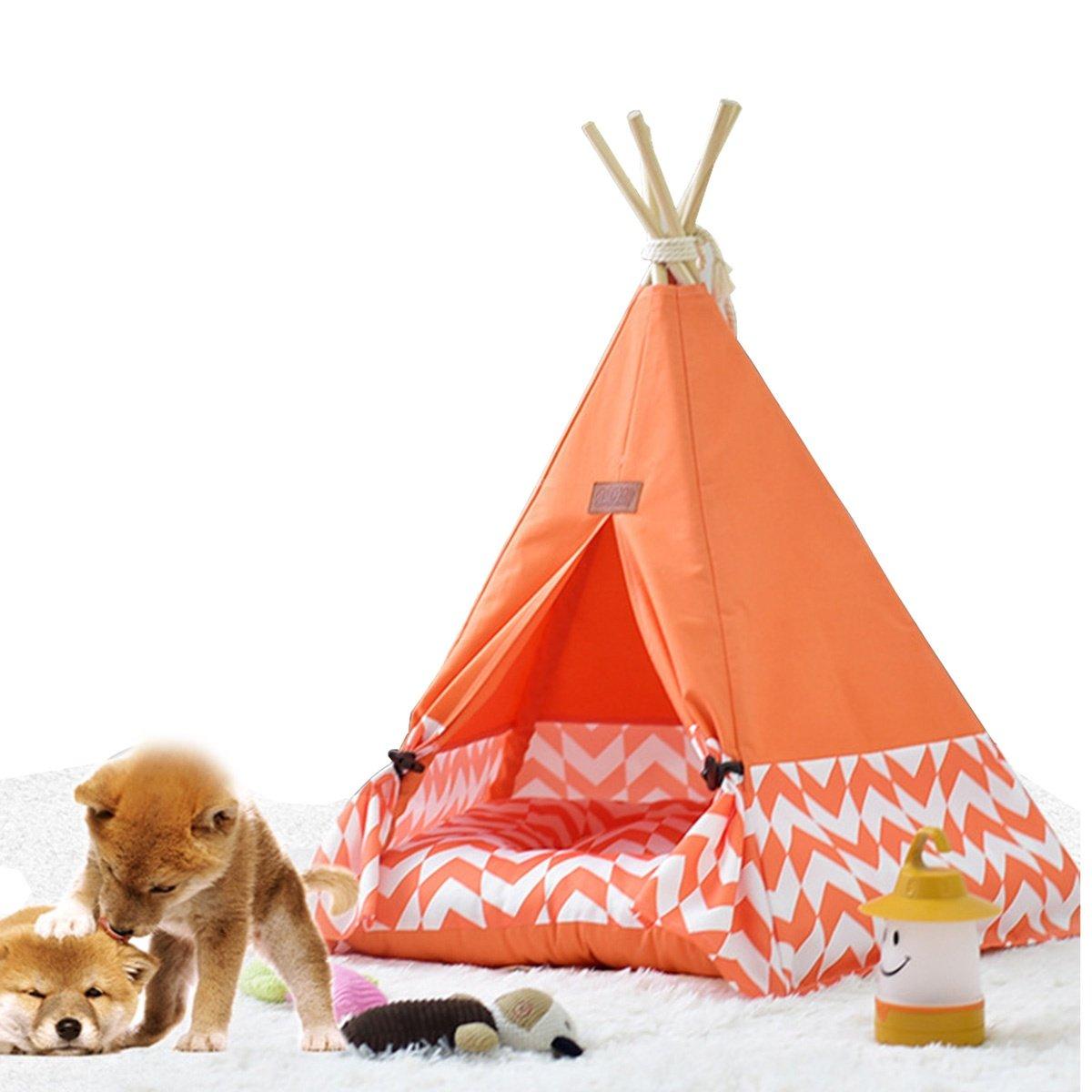 shanzhizui Tienda de Mascotas Extraíble y Lavable Perrera Arena para Gatos de Madera Cama para Mascotas Four Seasons, Orange, L: Amazon.es: Productos para ...
