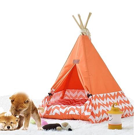 shanzhizui Tienda de Mascotas Extraíble y Lavable Perrera Arena para Gatos de Madera Cama para Mascotas