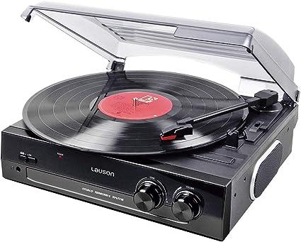 Amazon.com: Lauson CL502 Tocadiscos USB de vinilo a MP3, 2 ...