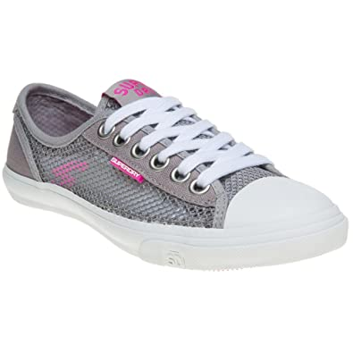 Superdry Low Pro Mesh Trainers Grey 4 UK