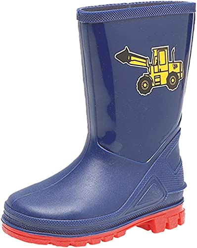 Girls Childrens Kids Infants Navy Blue Wellington Wellies Boots Size